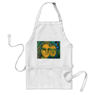 Anticipation - Gold and Emerald Goddess Adult Apron