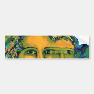 Anticipation - Gold and Emerald Goddess Bumper Sticker
