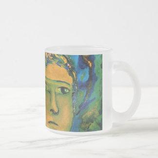 Anticipation - Gold and Emerald Goddess Coffee Mug