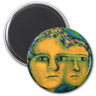Anticipation - Gold and Emerald Goddess Magnets