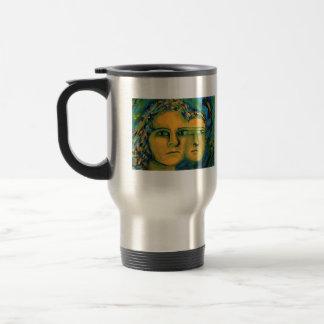 Anticipation - Gold and Emerald Goddess Coffee Mugs