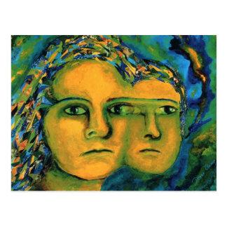 Anticipation - Gold and Emerald Goddess Postcard