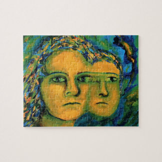 Anticipation - Gold and Emerald Goddess Jigsaw Puzzles