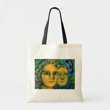 Anticipation - Gold and Emerald Goddess Tote Bag