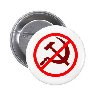 anticommunist pinback button