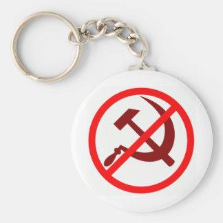 Anticomunista Llavero Redondo Tipo Pin