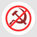 Anticomunista Pegatina Redonda