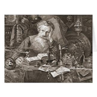 Anticuario 1901 tarjeta de felicitación grande