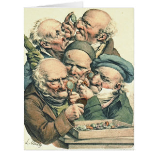 Anticuarios 1790 tarjeta de felicitación grande