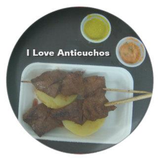 Anticuchos - Comida de Peru with changeable text Plates