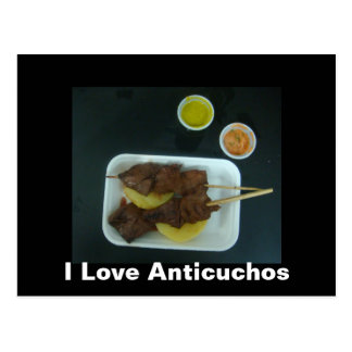 Anticuchos - Comida de Peru with changeable text Postcards