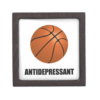 Antidepressant Basketball Keepsake Box