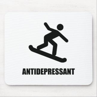 Antidepressant Snowboarding Mouse Pad
