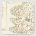 Antietam, el transbordador de Harper, Sharpsburg Calcomanías Cuadradass Personalizadas