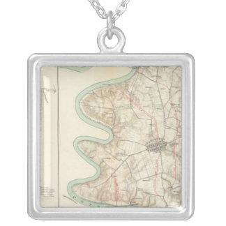 Antietam, Harper's Ferry, Sharpsburg Square Pendant Necklace
