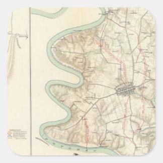 Antietam, Harper's Ferry, Sharpsburg Square Sticker