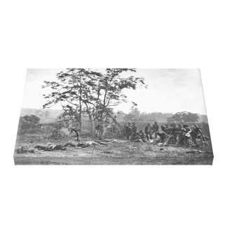 Antietam MD Burying the dead Confederate soldiers Canvas Print