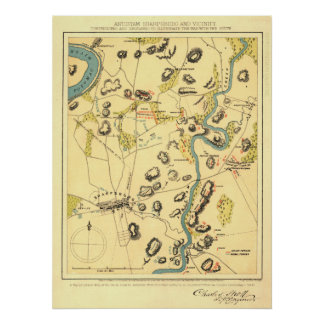 Antietam Sharpsburg and Vicinity Poster