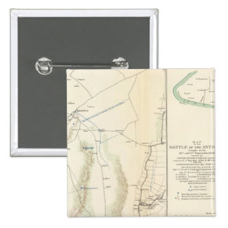 Antietam, Suffolk, Gettysburg Pin Cuadrado