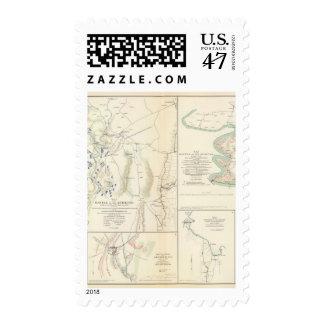 Antietam, Suffolk, Gettysburg Postage