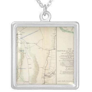 Antietam, Suffolk, Gettysburg Square Pendant Necklace