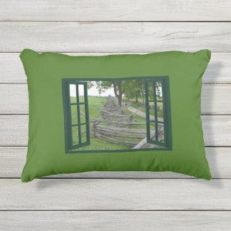 Antietum Scenic Window Outdoor Pillow