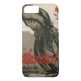 Antifascist! Help the oppressed_Propaganda Poster iPhone 8/7 Case