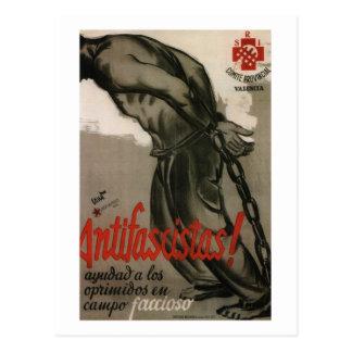 Antifascist! Help the oppressed_Propaganda Poster Postcard