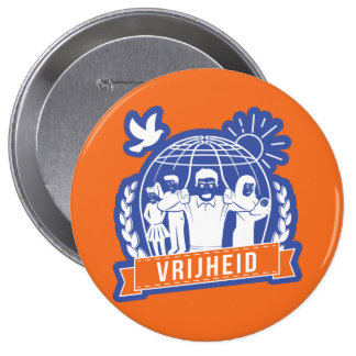 ANTIGLOBALISME VRIJHEID/FREEDOM - NEDERLAND PINBACK BUTTON