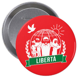ANTIGLOBALIZZAZIONE LIBERTÀ/FREEDOM - ITALIA PINBACK BUTTON