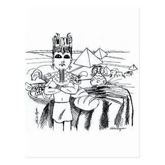 antigo del egito del mesa de COM del farao Postal