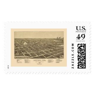 Antigo, WI Panoramic Map - 1886 Postage