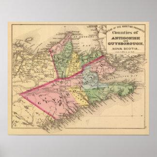 Antigonish, condados de Guysborough, NS Posters