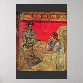 Antigonus And His Mother Detail By Pompejanischer Print