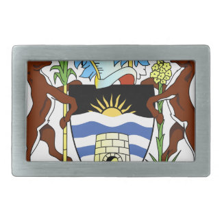 Antigua and Barbados National Seal Rectangular Belt Buckle