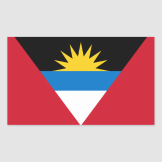 Antigua and Barbuda (Antiguan/Barbudan) Flag Rectangular Sticker