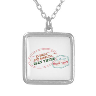 Antigua and Barbuda Been There Done That Silver Plated Necklace