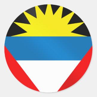 Antigua and Barbuda Caribbean Flag Classic Round Sticker