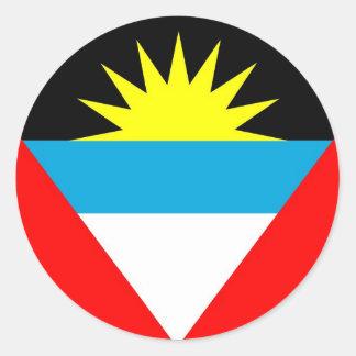 Antigua and Barbuda Classic Round Sticker