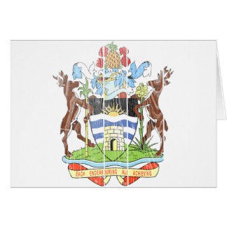 Antigua And Barbuda Coat Of Arms Card