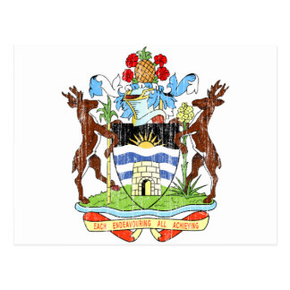Antigua And Barbuda Coat Of Arms Postcard