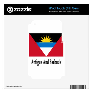Antigua And Barbuda Flag And Name Skin For iPod Touch 4G