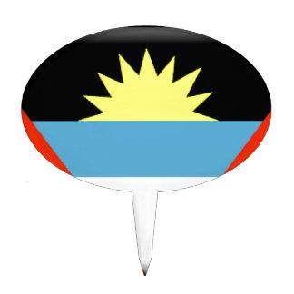 Antigua and Barbuda Flag Cake Topper