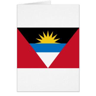 Antigua and Barbuda Flag Card