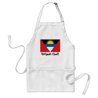 Antigua and Barbuda flag chef apron