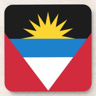 Antigua and Barbuda Flag Cork Coaster