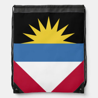 Antigua and Barbuda Flag Drawstring Backpack
