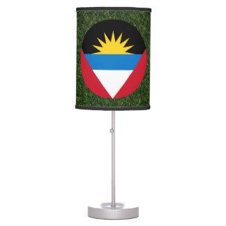Antigua and Barbuda Flag on Grass Table Lamp