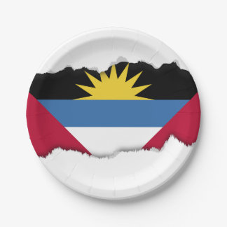 Antigua and Barbuda Flag Paper Plate