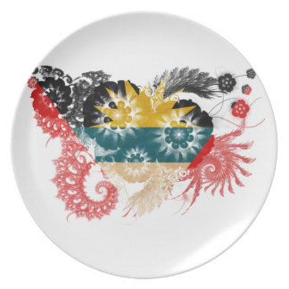 Antigua and Barbuda Flag Party Plate